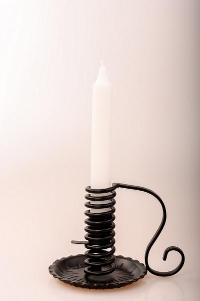 Spiral-Leuchter Eisen schwarz mit Schiebefunktion