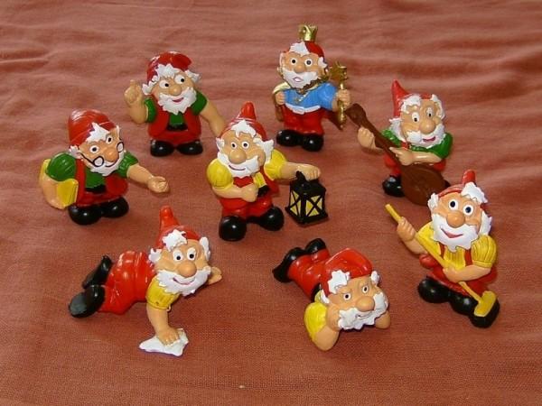 Märchen Zwerge mit Zwergenkönig Figuren Set aus Plastik
