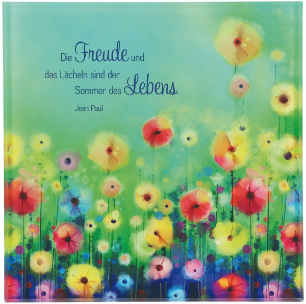 Acrylglas-Relief farbig bedruckt - Die Freude