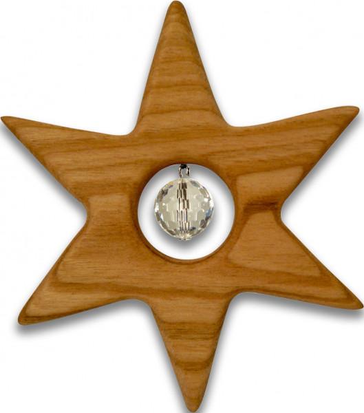 Fensterschmuck Stern 9,5cm Kristallkugel 1,4cm