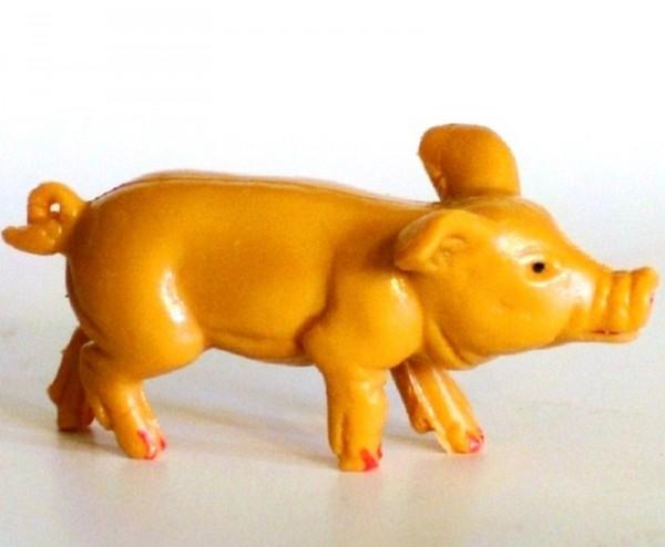Schwein, Dekofigur Bauernhof, Sammelfigur aus Plastik