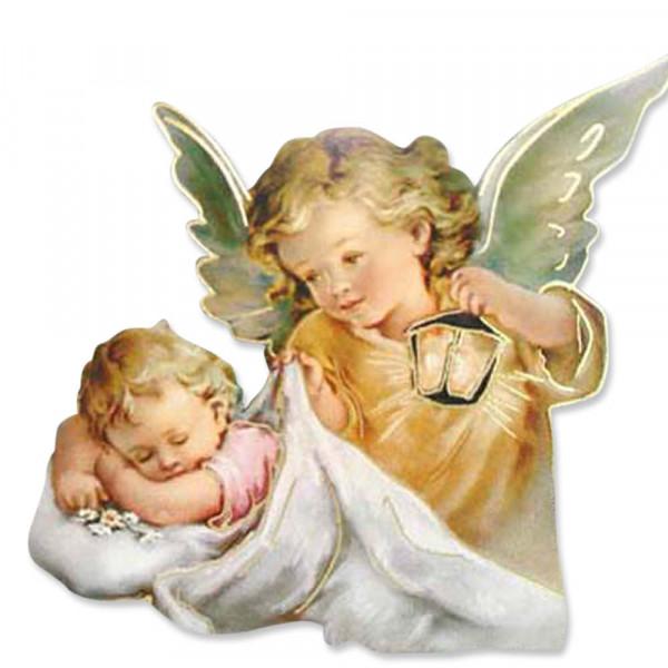 Magnet als Pin u. zum hängen Engel mit Baby