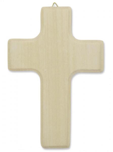 Holzkreuz Lindenholz mit Aufhänger 13cm