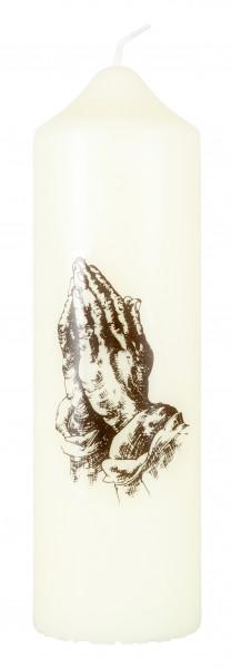 Motivkerze Betende Hände Kerze, Eierschale