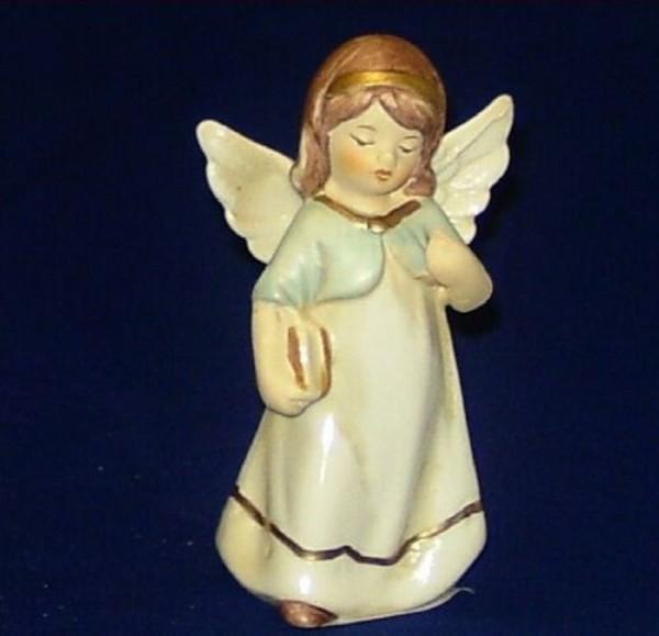 Engel Porzellan stehend 9,5cm mit Buch