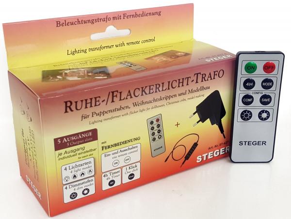 Steger Ruhe-/Flackerlicht-Trafo mit Fernbedienung