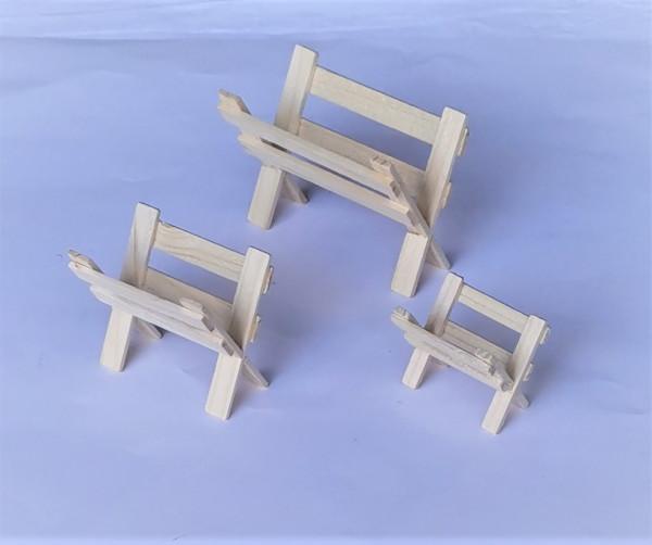 Miniatur Holz Futter-Krippe natur in 3 Größen