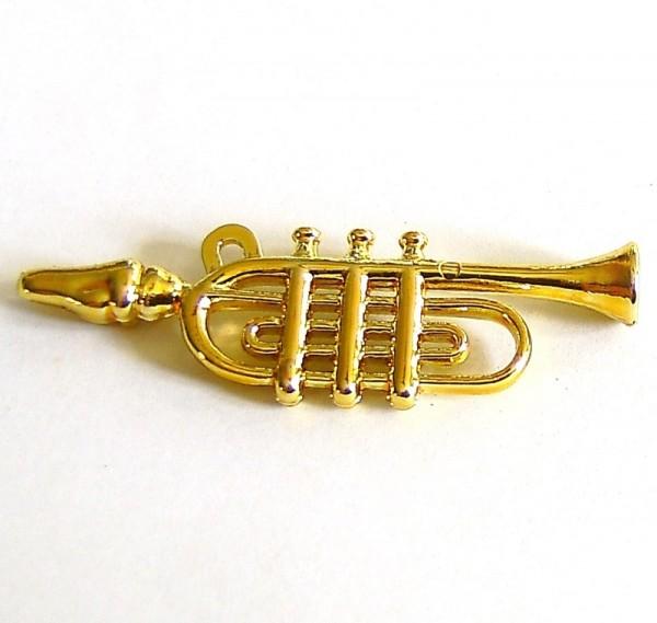Miniatur Deko Trompete, Plastik Bastel-Dekoartikel