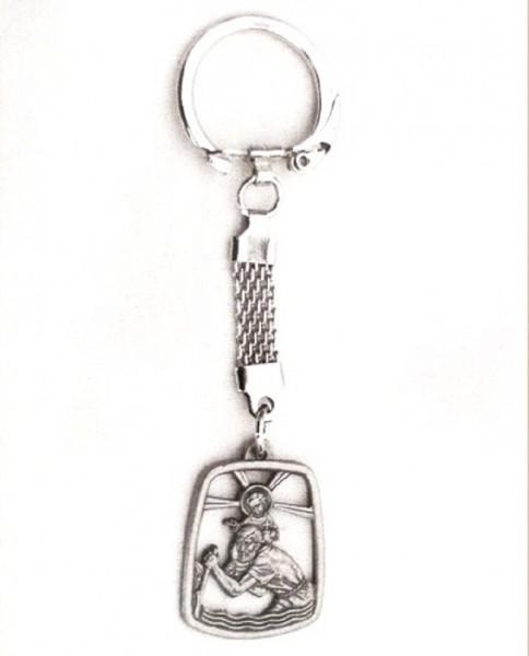Schlüsselanhänger Christophorus Metall Christliches Geschenk