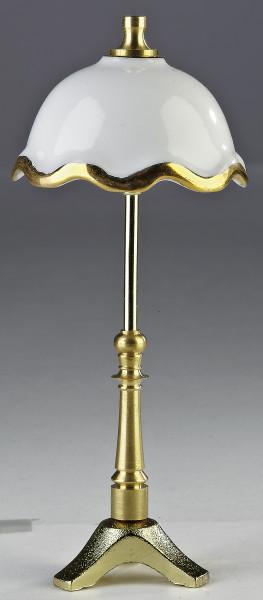 Puppenhaus Mini Stehlampe 3,5V mit Metallfuß und Porzellanschirm