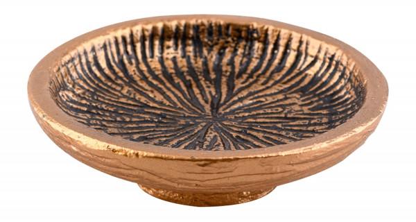 Räucherschale Metall gold-anthrazit klein, 11cm Durchmesser