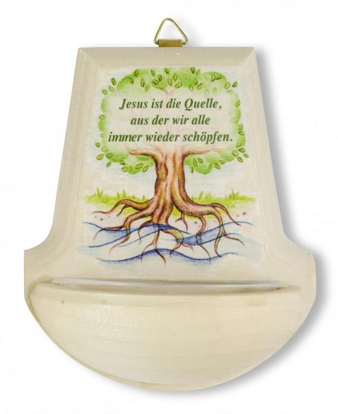 Weihbecken Holz Baum Jesu ist die Quelle 70/180