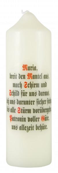 Spruchkerze Maria breit den., Eierschale 165/50mm