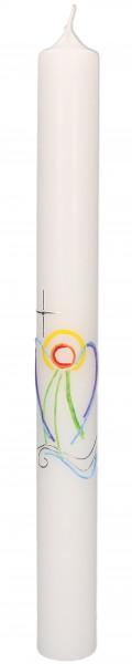 Taufkerze, Kerze Wachsmotiv Engel mit Kreuz