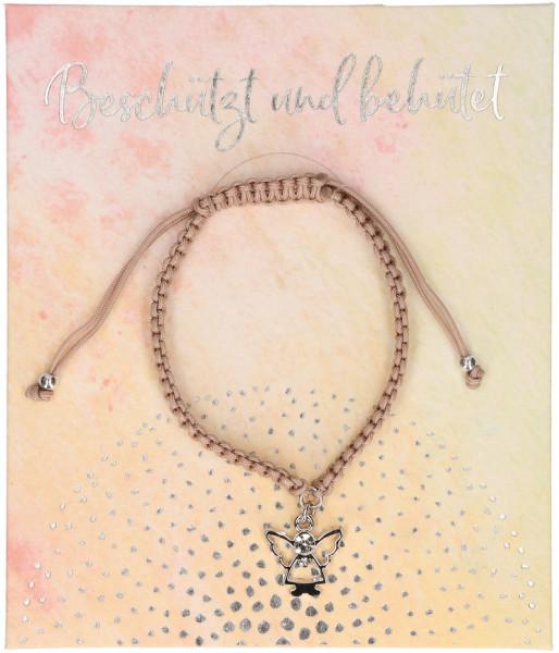 Armband geknüpft - beschützt- u. behütet, mit Engel