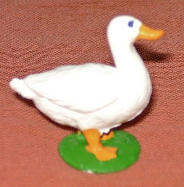 Ente stehend, Dekofigur Bauernhof, Sammelfigur Plastik