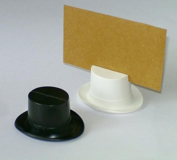Tischkartenhalter, Zylinder schwarz 48x40x25mm