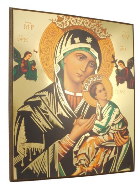 Ikonenbild Madonna mit Kind auf Holzplatte 14 x 18