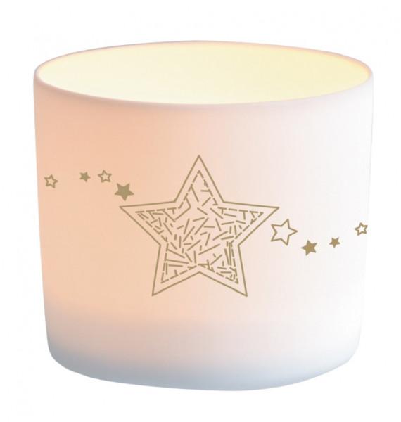 Windlicht Porzellan - Sternenzeit