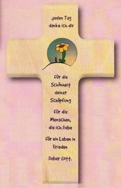 Kinderkreuz Kreuz Holzkreuz, jeden Tag.., Christliches Geschenk