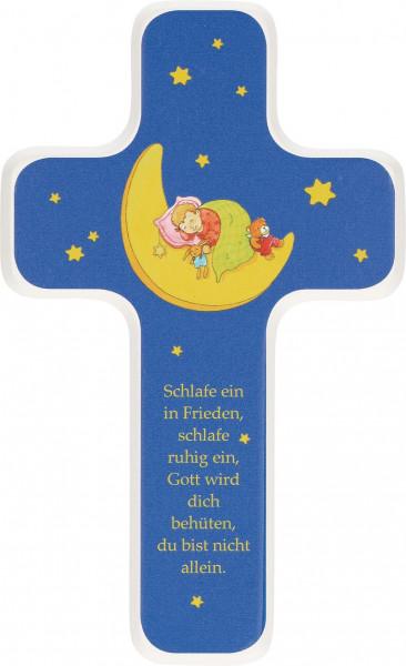 Kinderholzkreuz - Kreuz Motiv Schlafe ein in Frieden