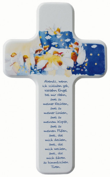 Kinderholzkreuz - Kreuz mit Motiv, Babykreuz