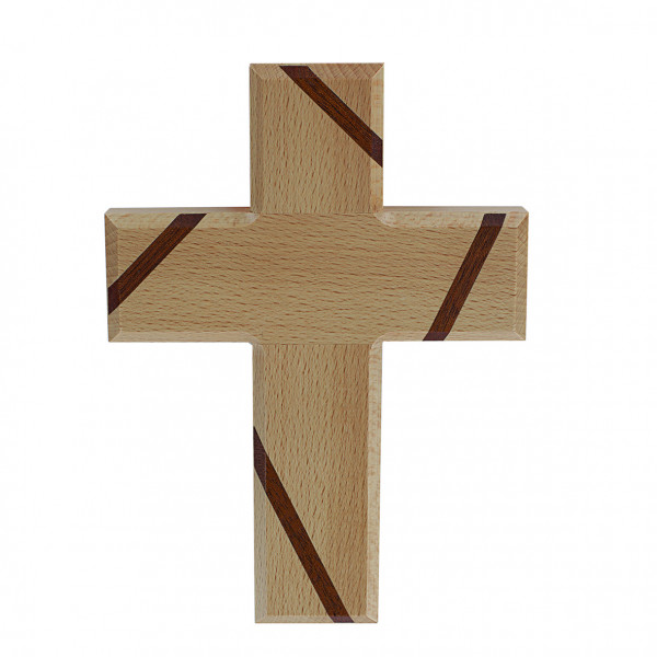 Kreuz aus Holz - Buche massiv