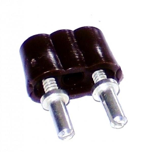 Stecker 8mm Stifte, für Krippen- u. Modellbau