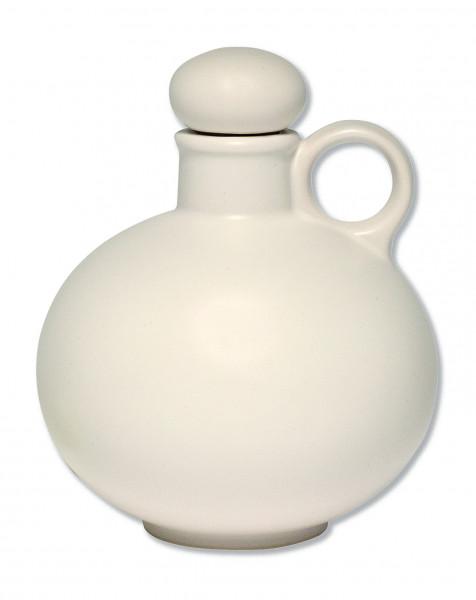 Weihwasserkrug Keramik weiß matt glasiert