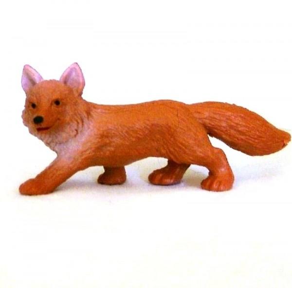 Tierfigur Fuchs, Mini Deko Sammelfigur aus Plastik