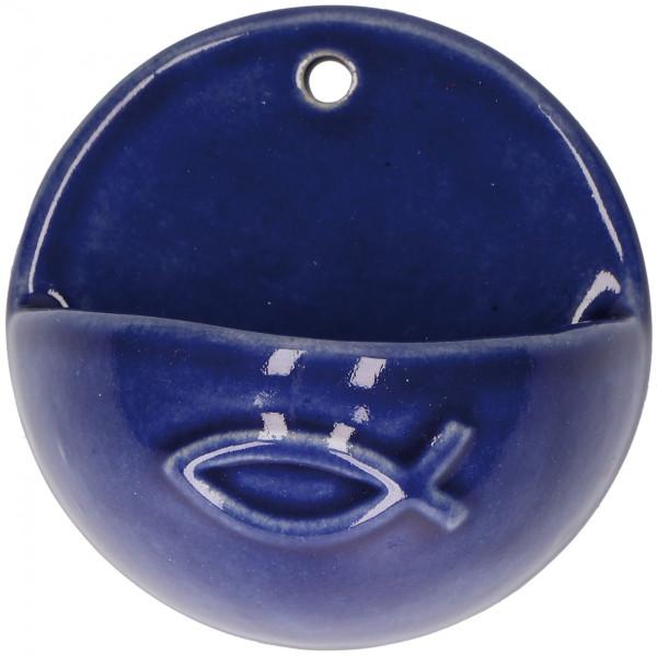 Weihwasserkessel aus Keramik - Motiv Fisch