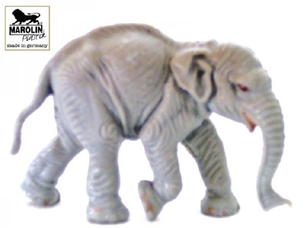 Tierfigur Junger Elefant, Marolin Plastik Sammelfigur