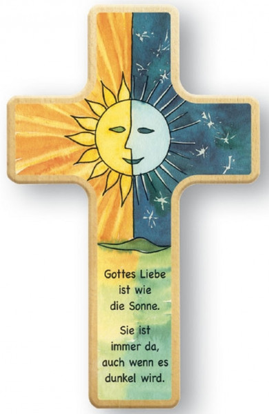 Kinderholzkreuz - Kreuz, Sonne und Mond