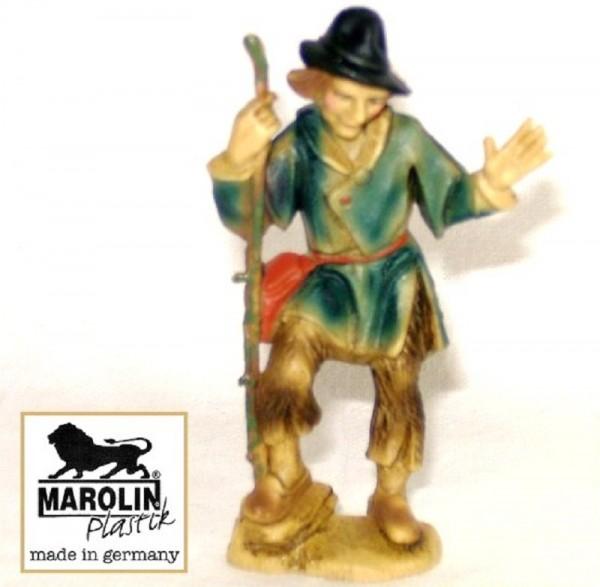 Hirt Schäfer stehend Kunstoff Krippenfigur 9cm Marolin Plastik