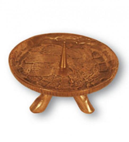 Bronzeleuchter mit Fuß für Kerzen bis 90mm D