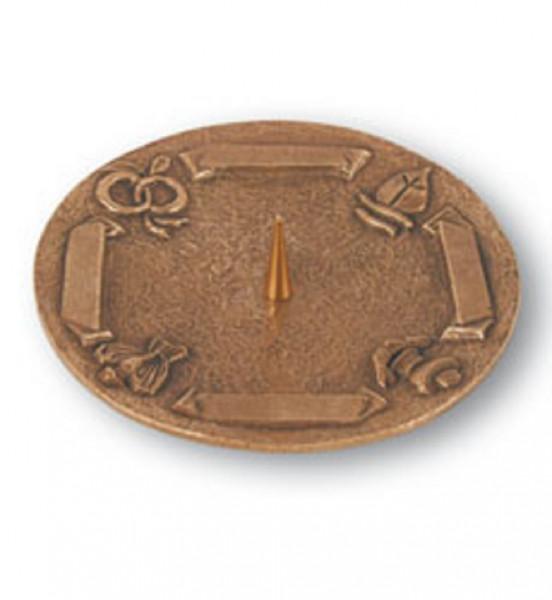 Bronzeleuchter mit Symbole für Kerzen bis 80mm D