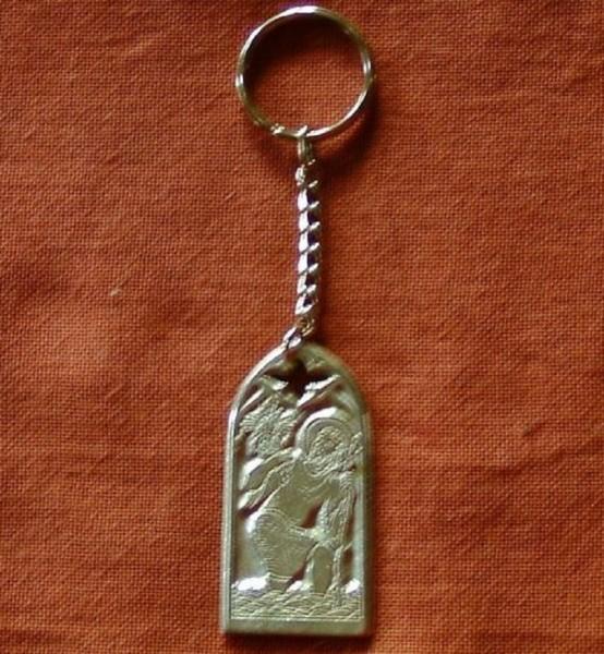 Schlüsselanhänger Christophorus aus Metall