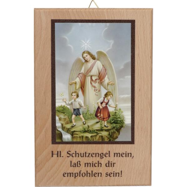 Holzspruch-Bild Motiv Schutzengel 11x16cm, A165