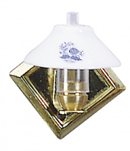 Puppenhaus Mini Wandlampe 3,5V Messingwandhalter mit Porzellanschirm