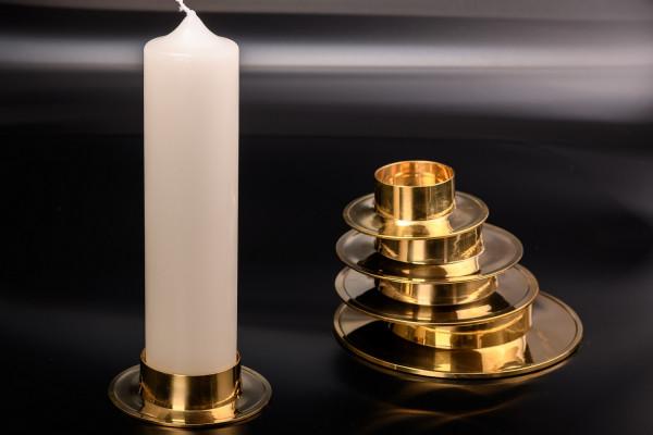 Kerzenhalter Messing poliert
