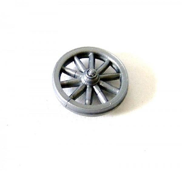 Miniatur Wagenrad Plastik grau, Bastelartikel Zubehör