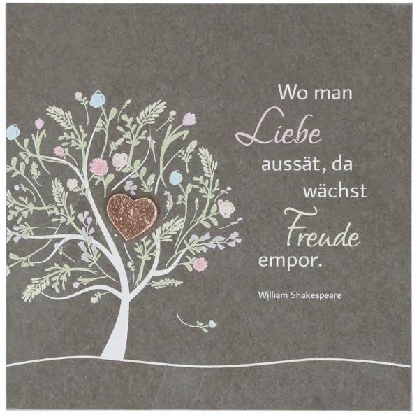 Schiefertafel-Schieferrelief - Liebe, Zur Hochzeit