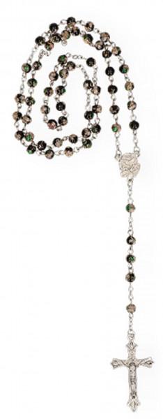 Cloisonné-Rosenkranz - schwarz, mit Glasperlen