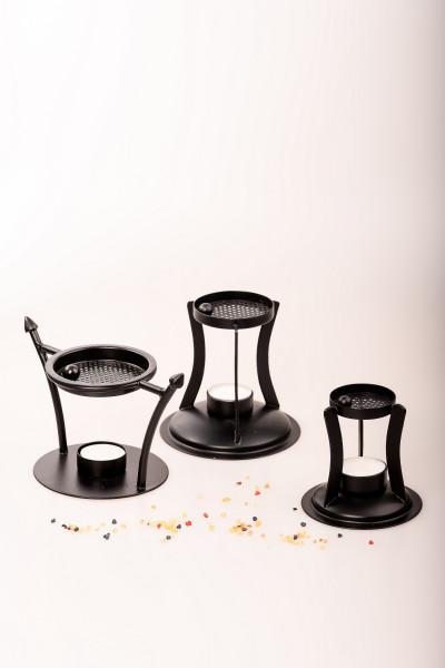 Räucherstövchen aus Eisen in Schwarz