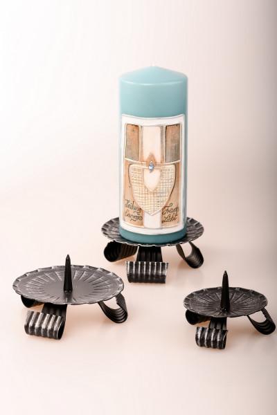 Kerzenleuchter Eisen mit Dorn, schwarz