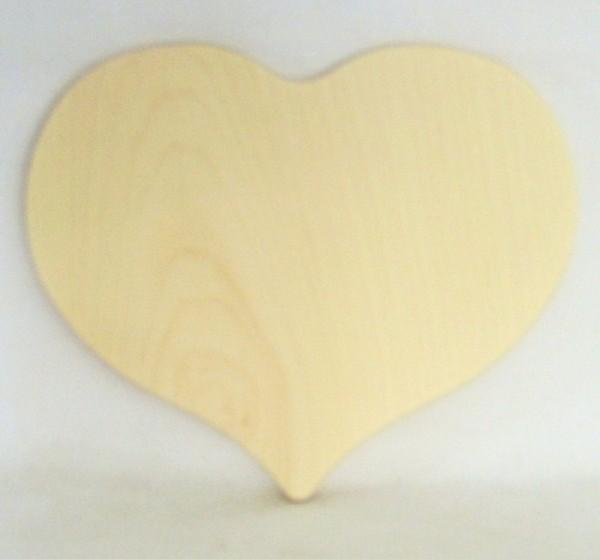 Herzbrett Ahornholz natur 18x15,5x1 cm