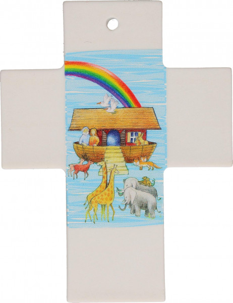 Kreuz aus Porzellan - Arche Noah