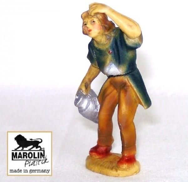 Hirt mit Krug Kunststoff Krippenfigur 7cm Marolin Plastik Figur