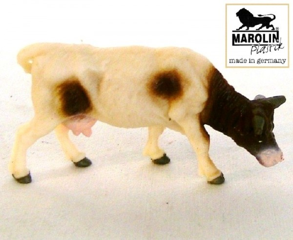 Kuh grasend Marolin Plastik Bauernhof Figur aus Plastik