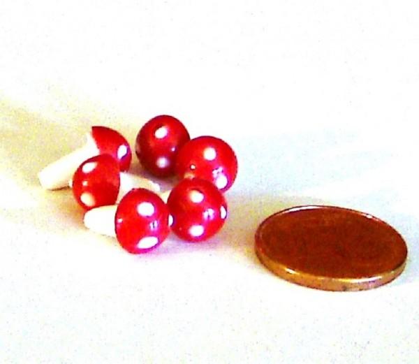 Miniatur Deko Pilz, Streuartikel zum basteln Plastik